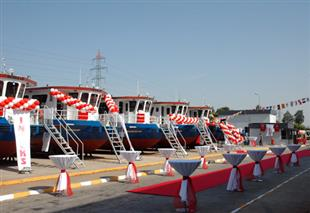 8 UNITS INDEKS BRAND TERMINAL TRACTORS WERE DELIVERED TO THE TCDD WITH A CEREMONY